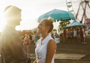 carnival fair themed engagement couple shoot